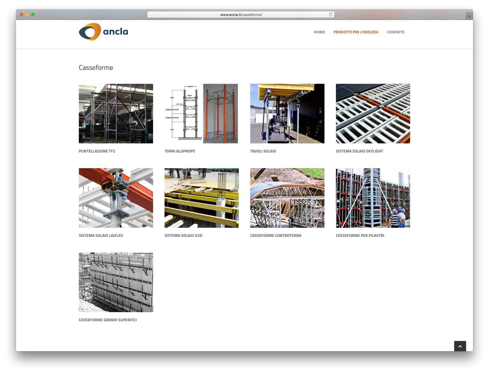 creazione siti web brescia - Agenzia P - sito web Ancla