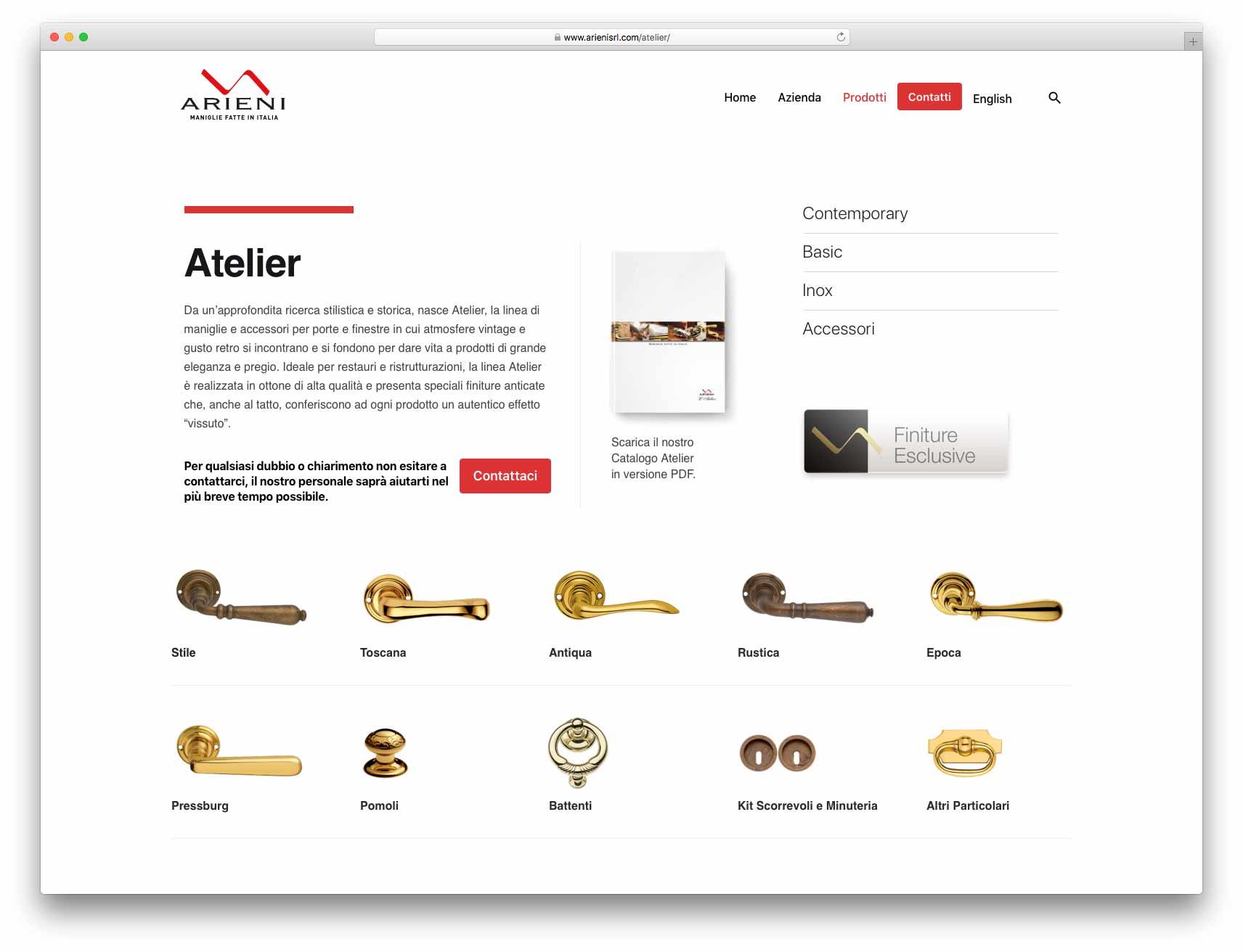 creazione siti web brescia - Agenzia P - sito web Arieni