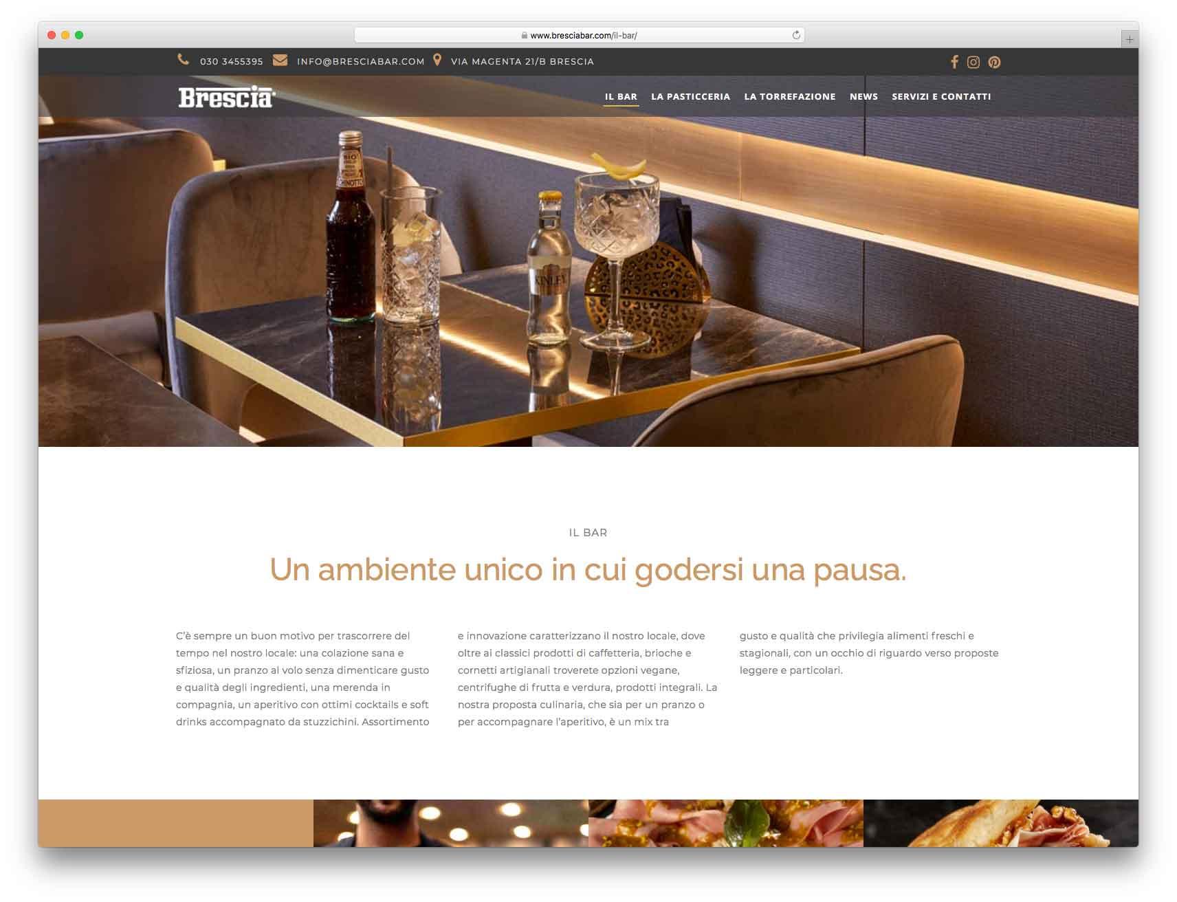 creazione siti web brescia - Agenzia P - sito web Brescia Bar