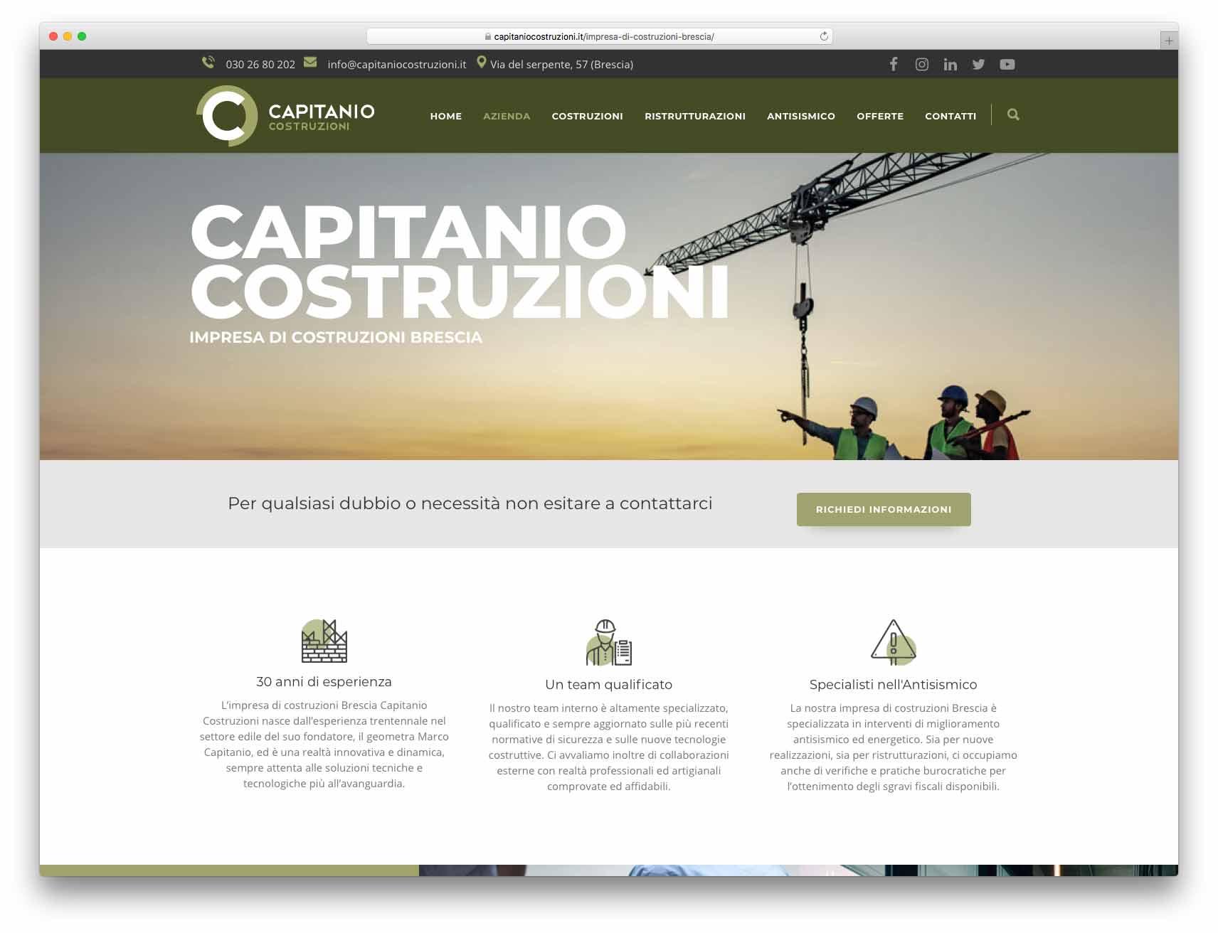 creazione siti web brescia - Agenzia P - sito web Capitanio Costruzioni