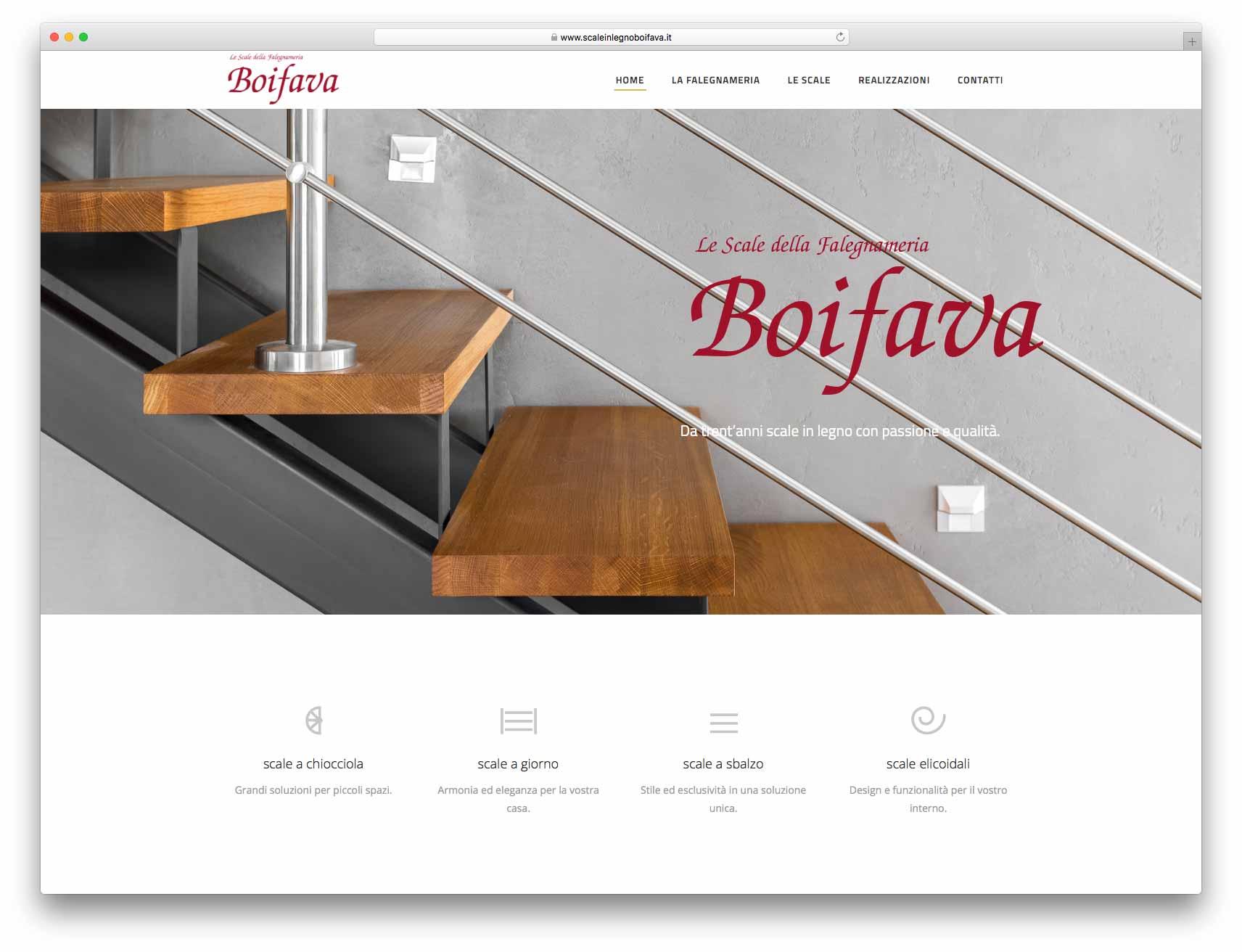 creazione siti web brescia - Agenzia P - sito web Falegnameria Boifava