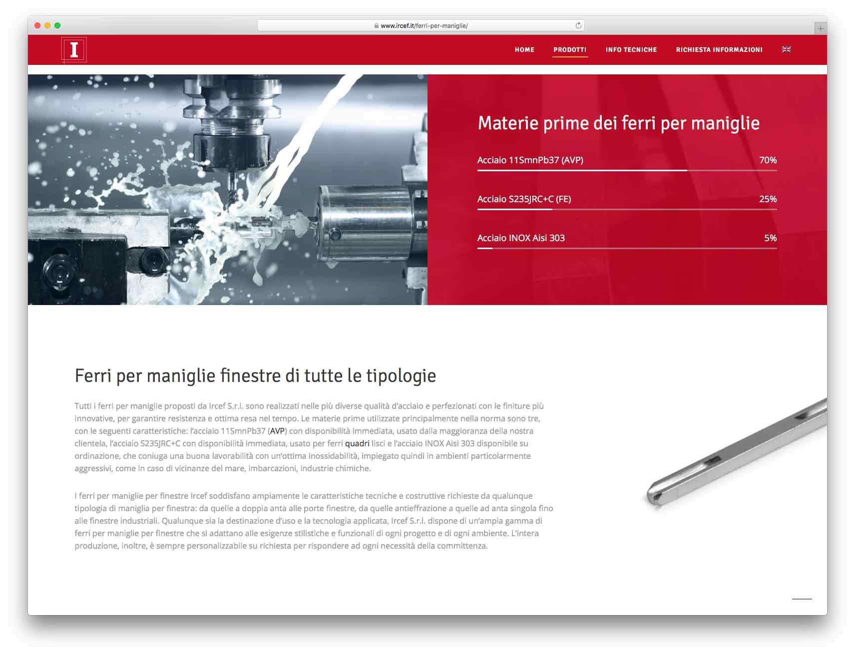 creazione siti web brescia - Agenzia P - sito web Ircef
