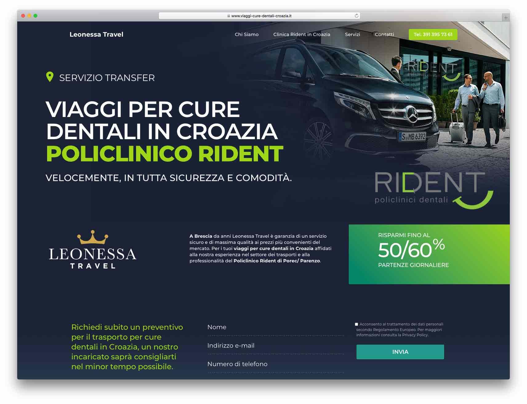 creazione siti web brescia - Agenzia P - sito web Leonessa Travel
