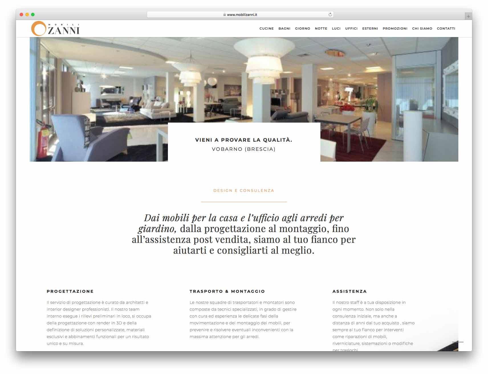 creazione siti web brescia - Agenzia P - sito web Mobili Zanni