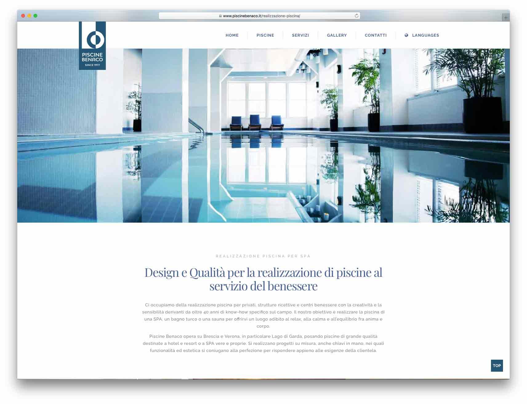 creazione siti web brescia - Agenzia P - sito web Piscine Benaco