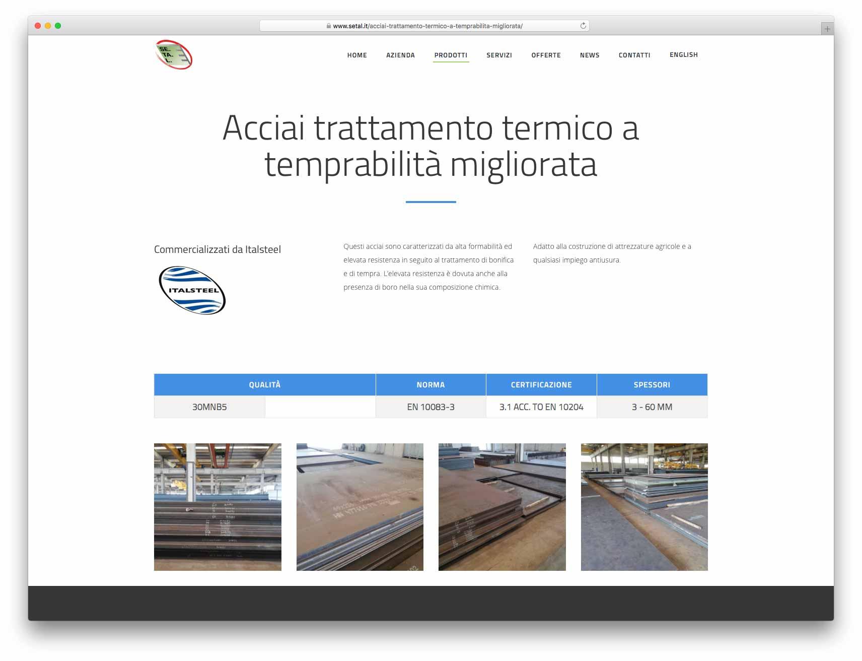 creazione siti web brescia - Agenzia P - sito web Setal