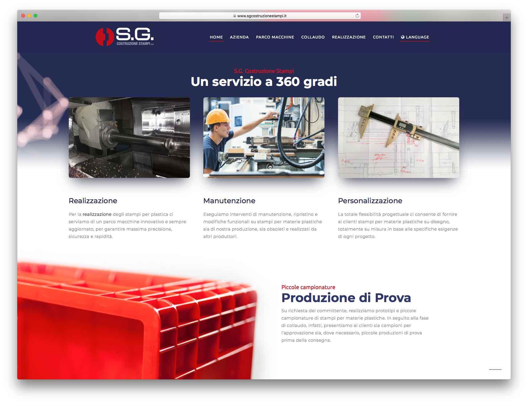 creazione siti web brescia - Agenzia P - sito web SG Costruzione Stampi