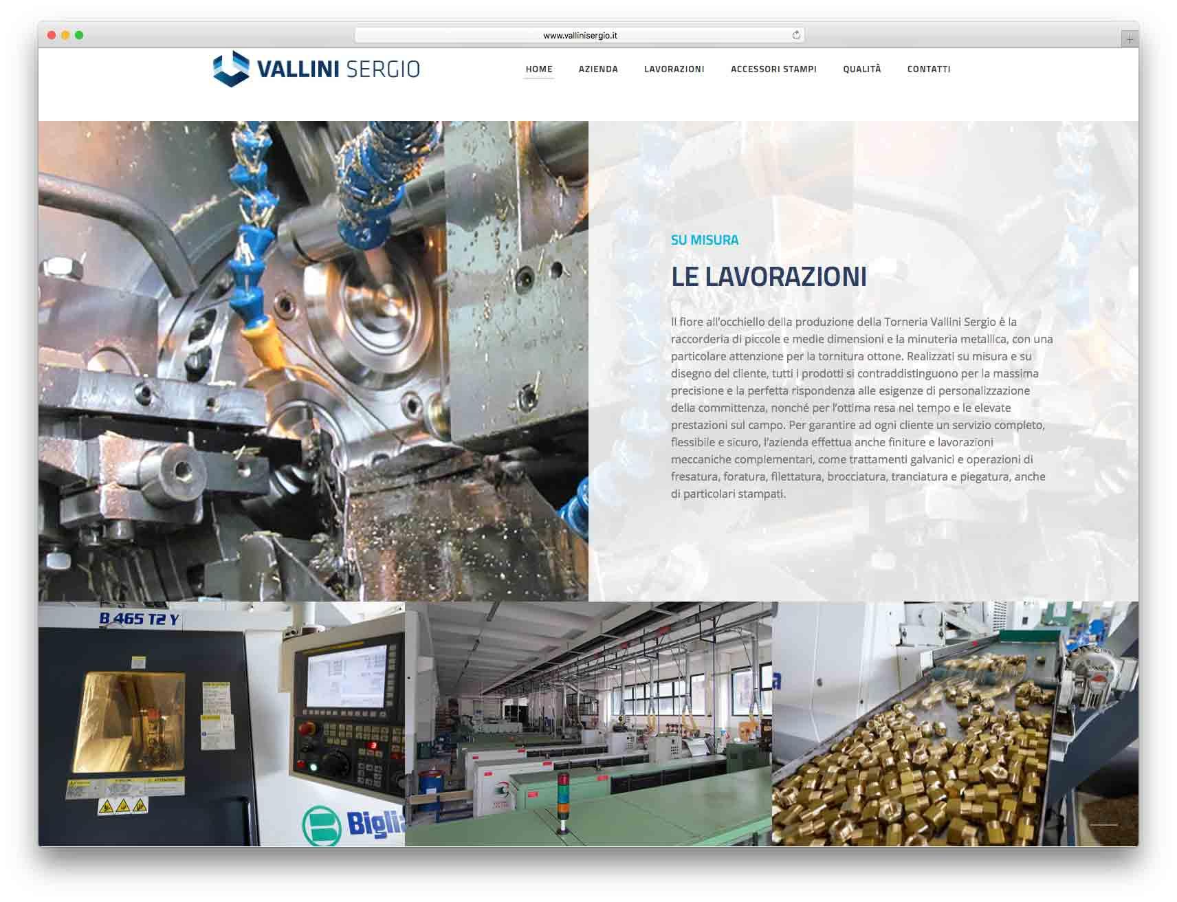 creazione siti web brescia - Agenzia P - sito web Torneria Vallini Sergio