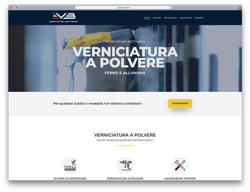 creazione siti web brescia - Agenzia P - sito web VB Verniciatura Bettinsoli