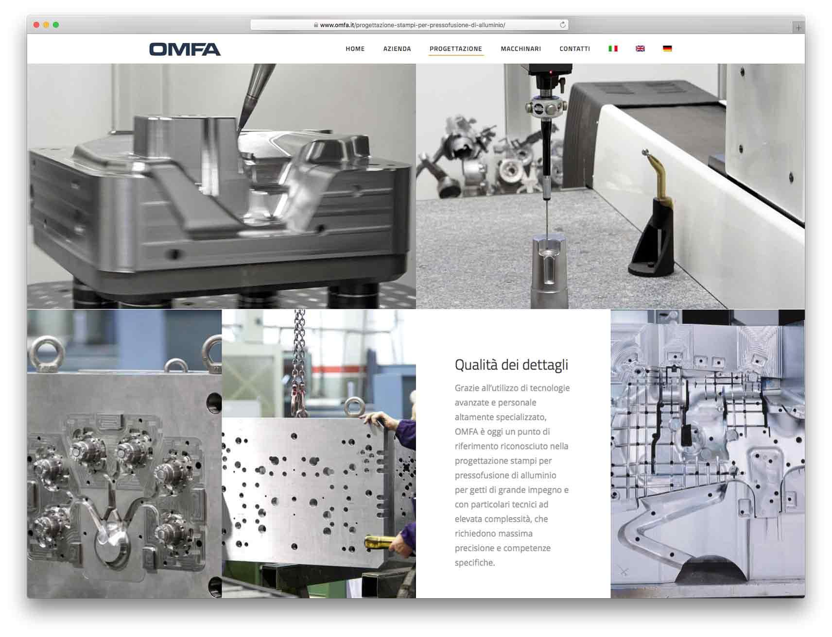 creazione siti web brescia - Agenzia P - sito web Omfa